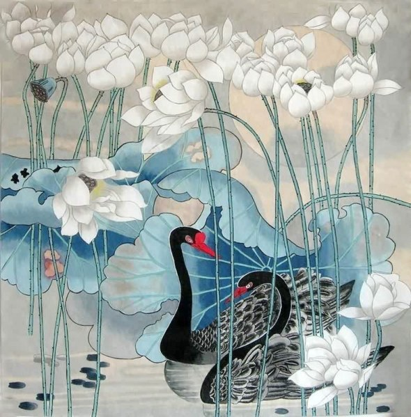 chinese-swan-painting